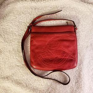 Ralph Lauren Crossbody Red Leather Purse